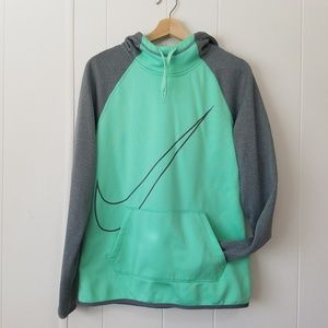 Nike | Mint Green & Gray Pull-Over Hoodie | SZ M